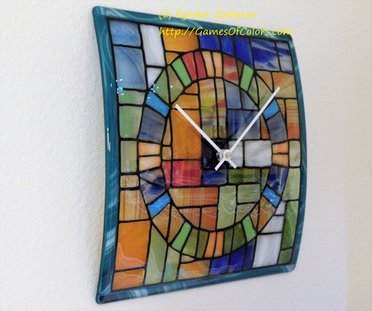 Wall Clock Quot A Stained Glass Window Quot
